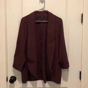 Torrid Maroon Stretch Blazer Size 2